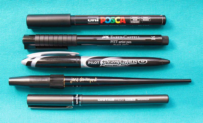 5 favs - black pens Robyn Wood Purple Salt