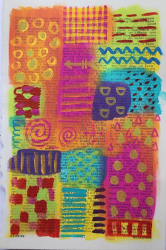 My own little world - art journal page by Robyn Wood, www.purple