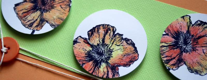 Sending Sunshine with Poppies, Robyn Wood, Purple Salt