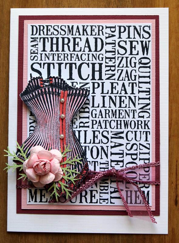 Stitch corset, Robyn Wood, Purple Salt