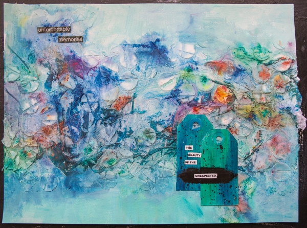 The Beauty of the Unexpected - abstract, textured art journal page by Robyn Wood