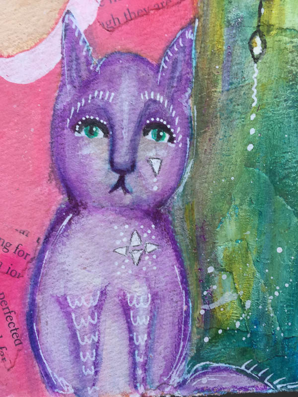 Purple Salt, Robyn Wood, art journal, mixed media